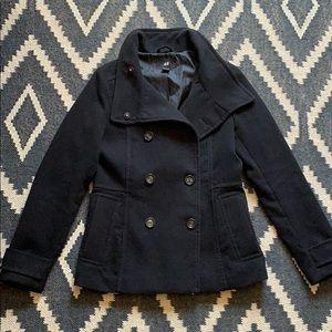 H&M Black Pea Coat